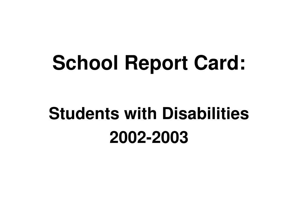 School Report Card: