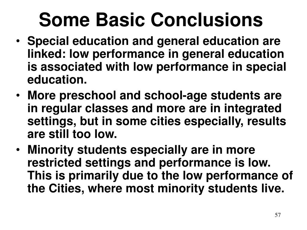 Some Basic Conclusions