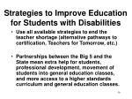 strategies to improve education for students with disabilities59