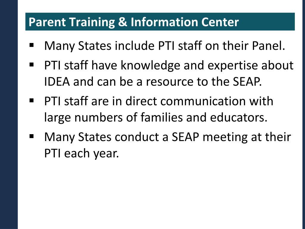 Parent Training & Information Center