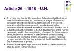 article 26 1948 u n