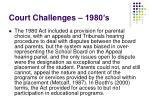 court challenges 1980 s
