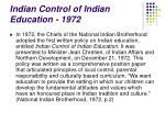 indian control of indian education 1972