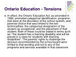 ontario education tensions