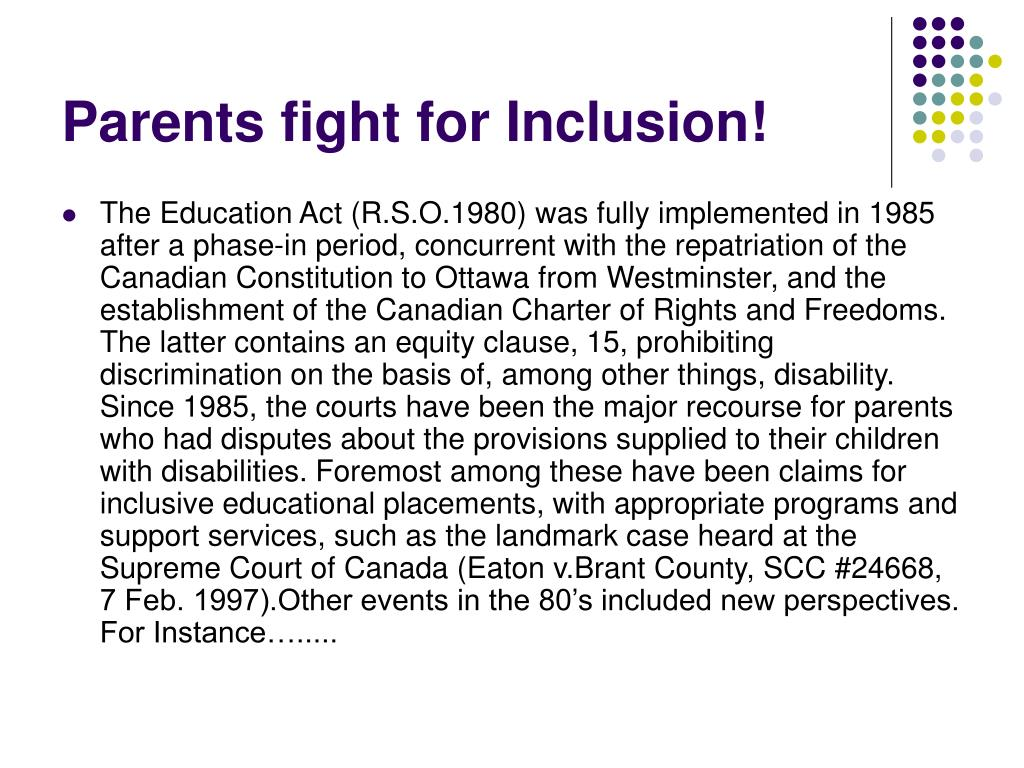 Parents fight for Inclusion!