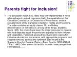 parents fight for inclusion