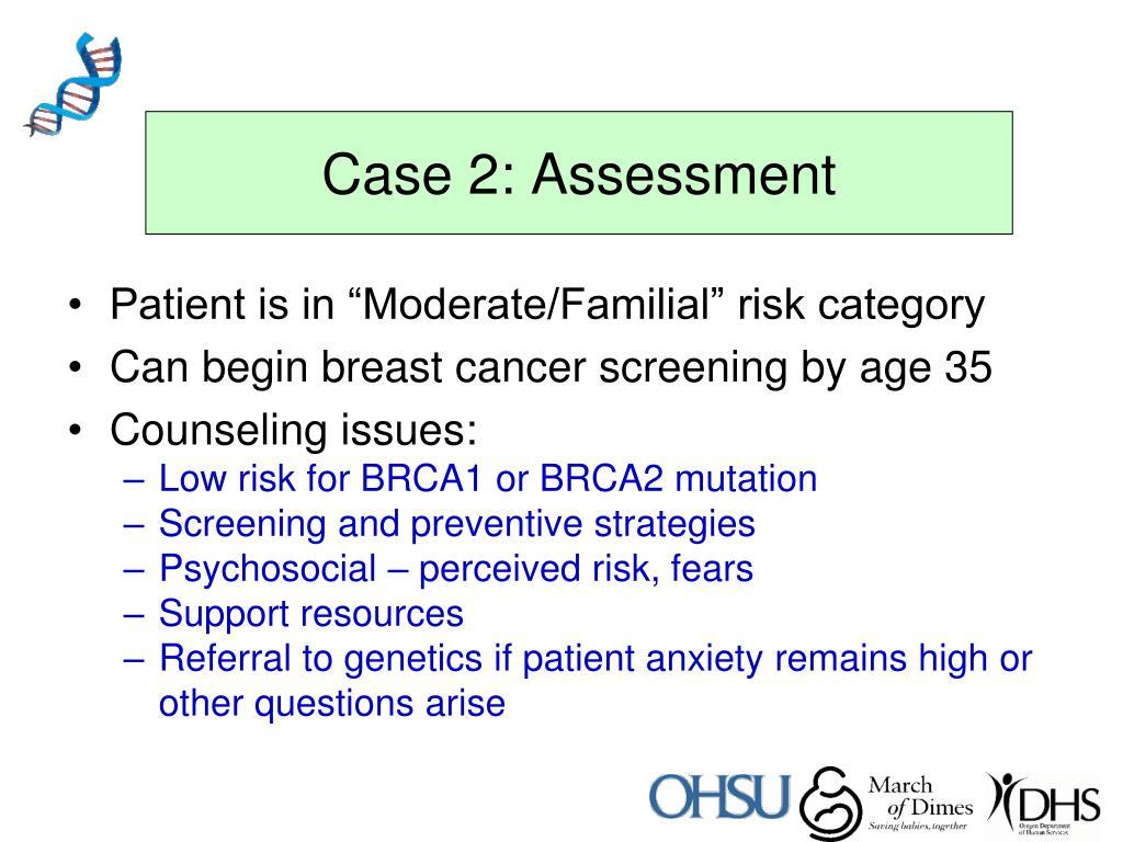 Case 2: Assessment