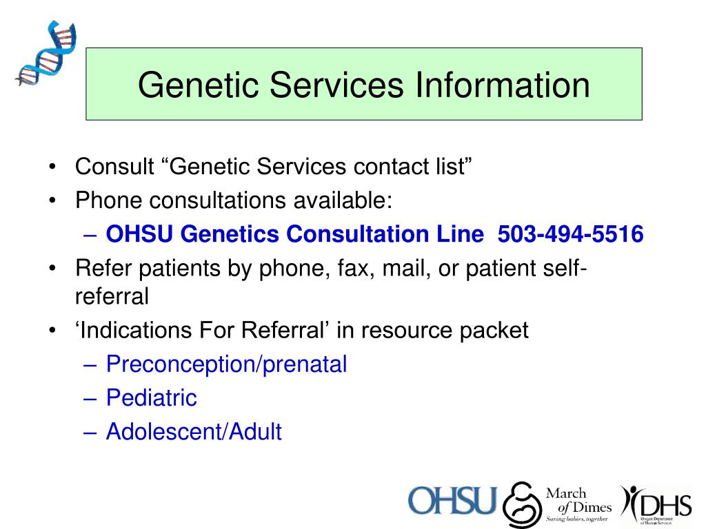 Genetic Services Information