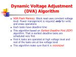 dynamic voltage adjustment dva algorithm