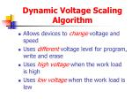 dynamic voltage scaling algorithm
