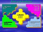 rules and guidance