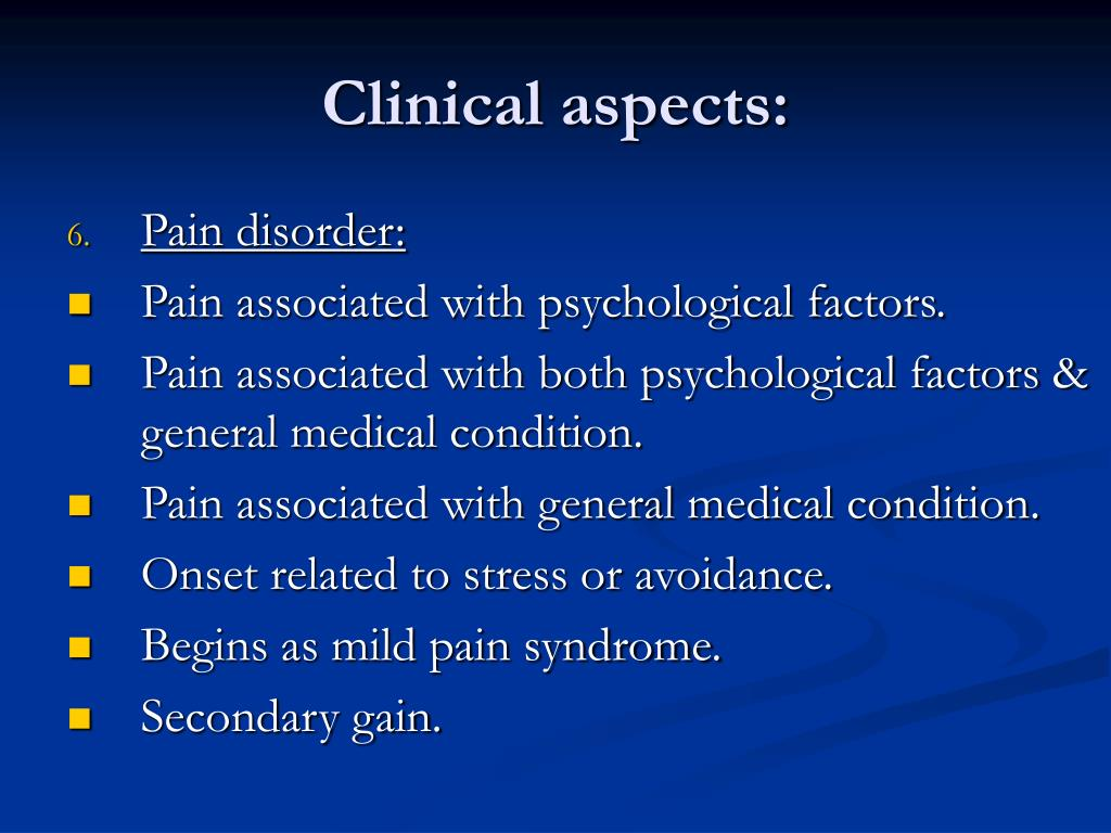 Clinical aspects: