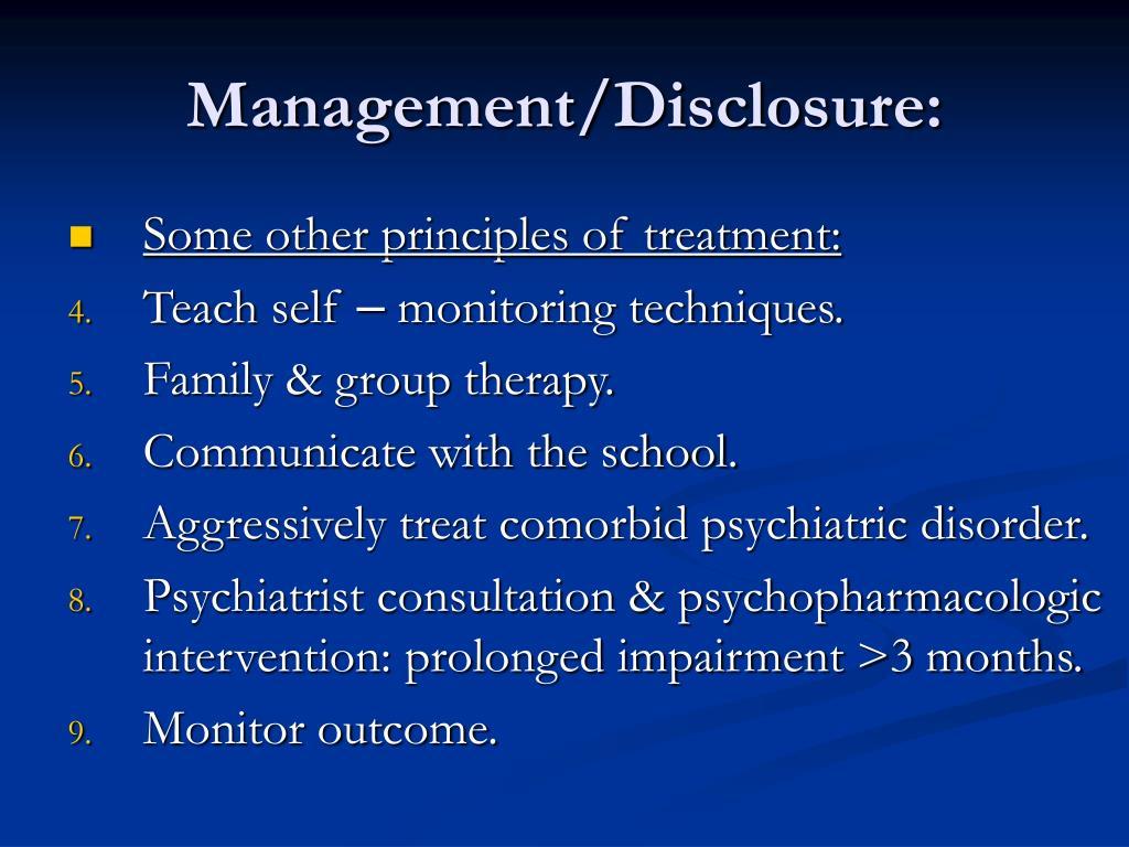 Management/Disclosure: