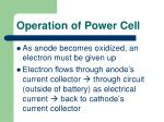 operation of power cell