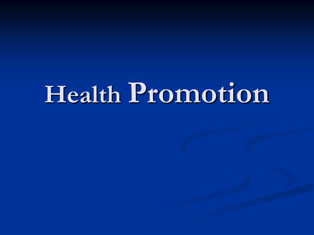 healthpromotion Welcome from the chair in 2016, the students, staff, and faculty in the department of health promotion created a new mission to promote and sustain health for all groups by integrating community-engaged public health research, exceptional training of public health leaders, and evidence-based outreach.