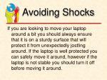 avoiding shocks