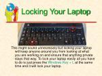 locking your laptop