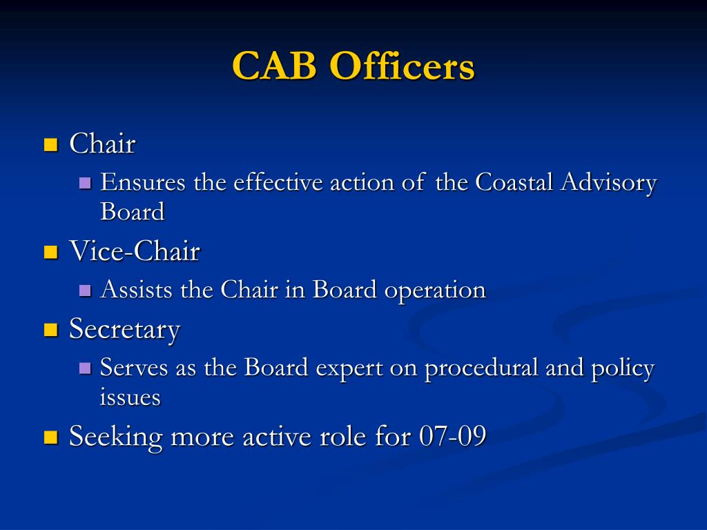 CAB Officers