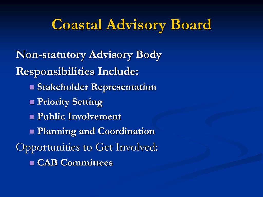 Coastal Advisory Board