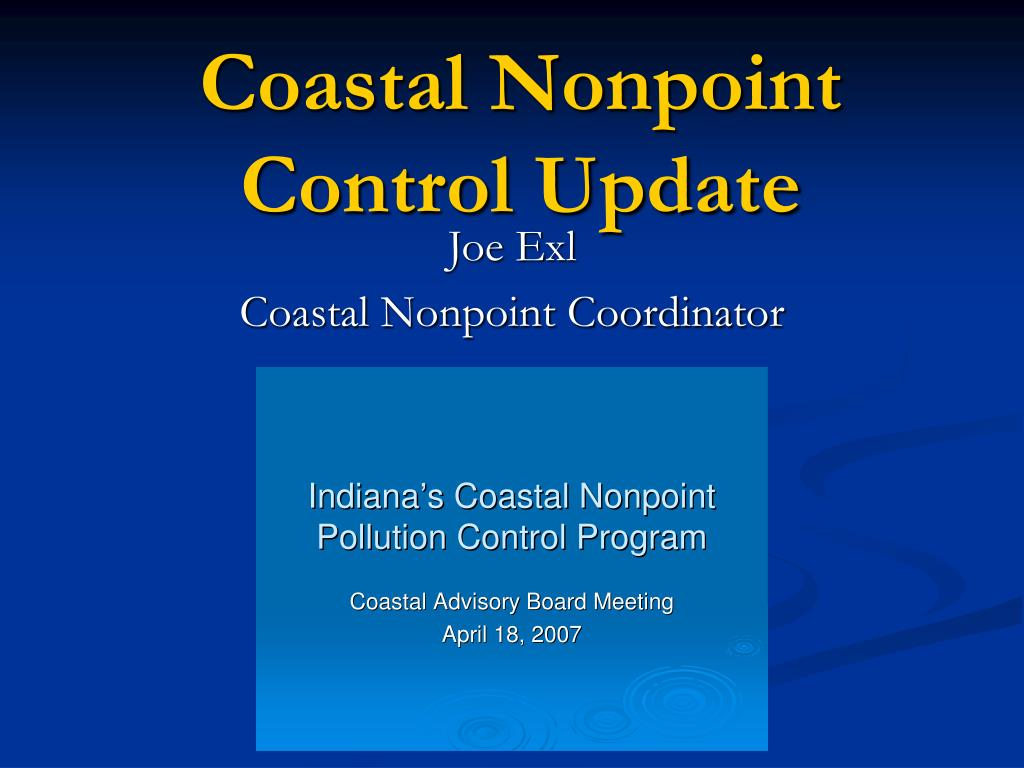 Coastal Nonpoint Control Update