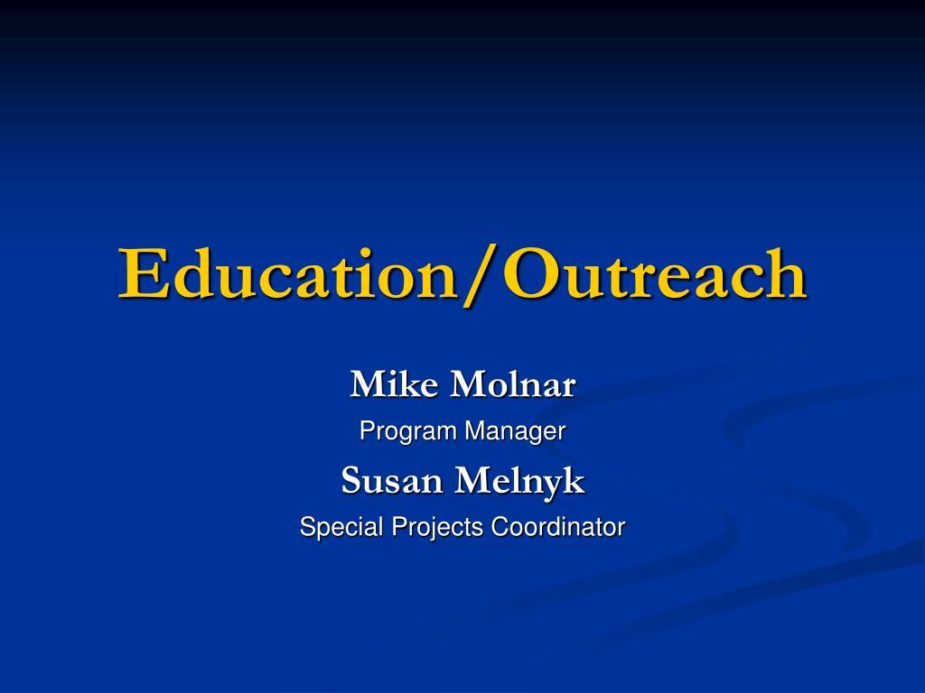 Education/Outreach