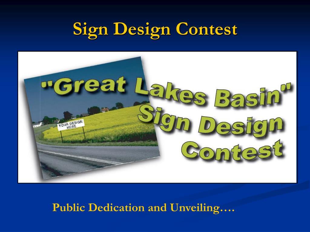 Sign Design Contest