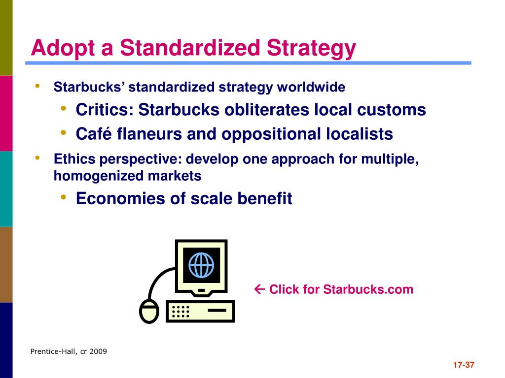 Starbucks' standardized strategy worldwide