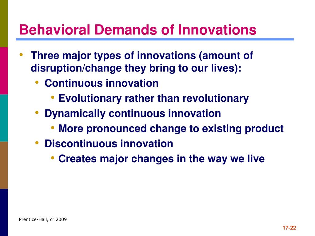 Behavioral Demands of Innovations