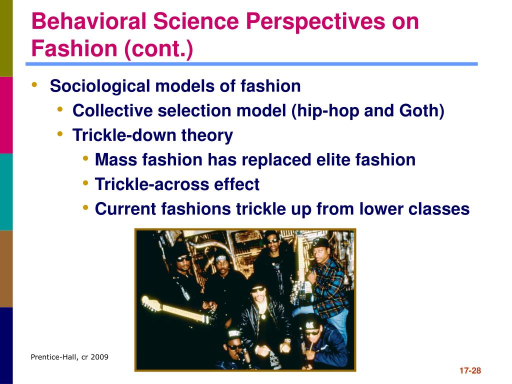 Behavioral Science Perspectives on Fashion (cont.)
