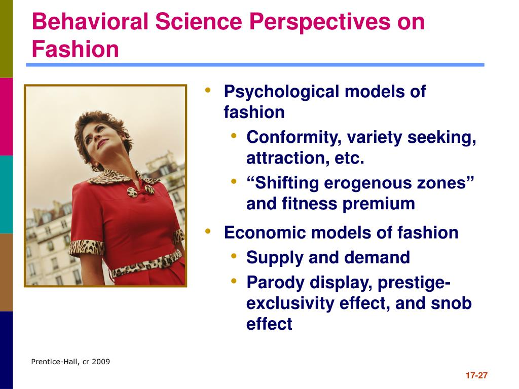 Behavioral Science Perspectives on Fashion