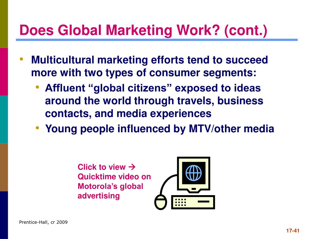 Does Global Marketing Work? (cont.)