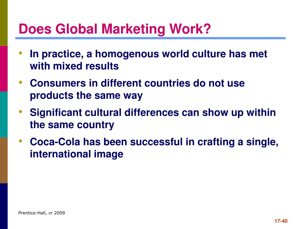 Does Global Marketing Work?