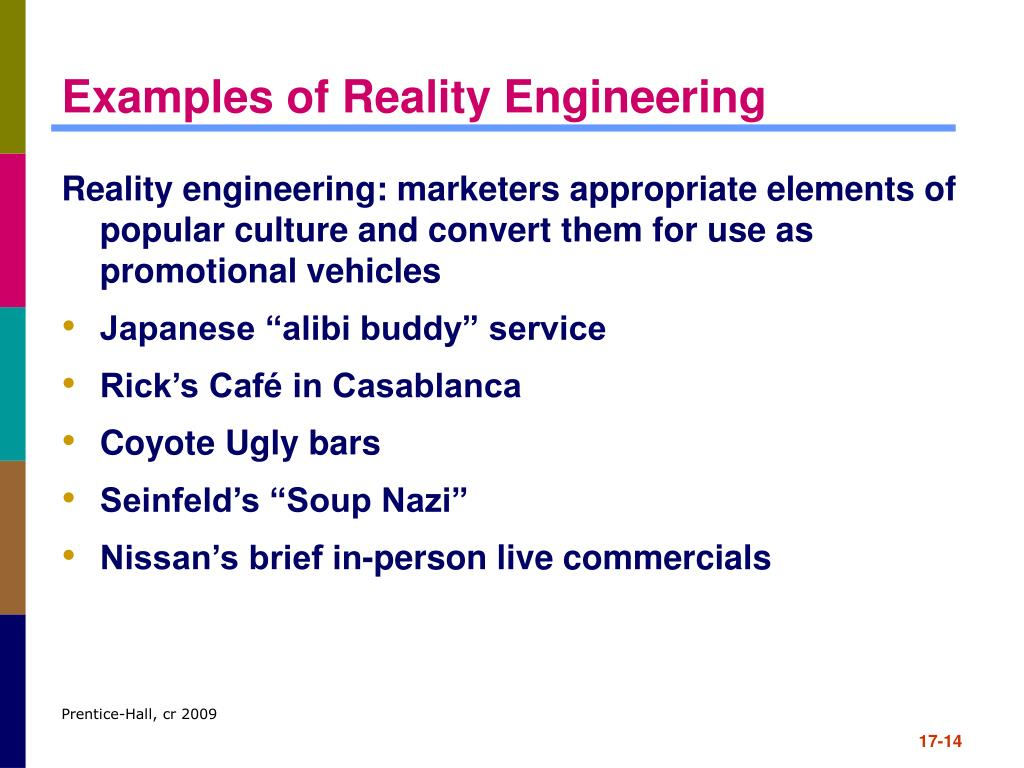 Examples of Reality Engineering