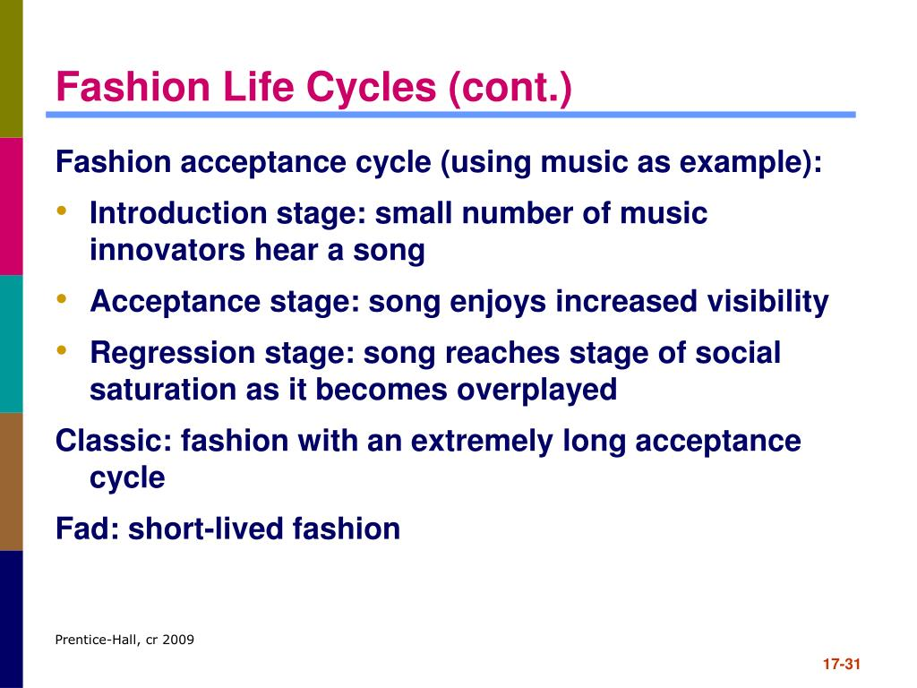 Fashion Life Cycles (cont.)