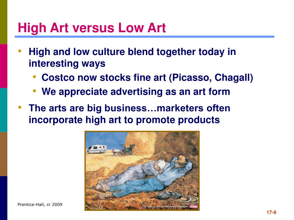 High Art versus Low Art