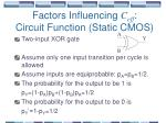 factors influencing c eff circuit function static cmos38