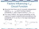 factors influencing c eff circuit function