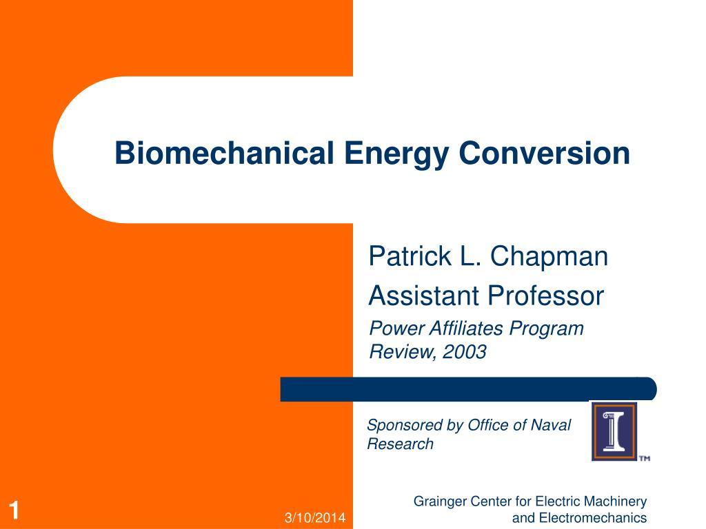 biomechanical energy conversion l.
