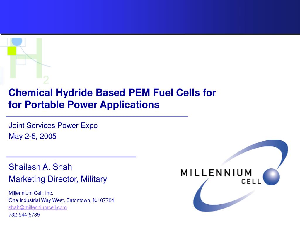 chemical hydride based pem fuel cells for for portable power applications l.