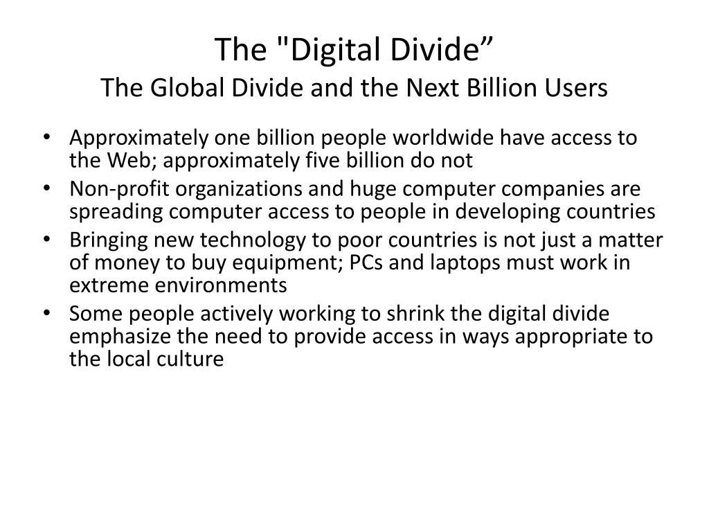 """The """"Digital Divide"""""""