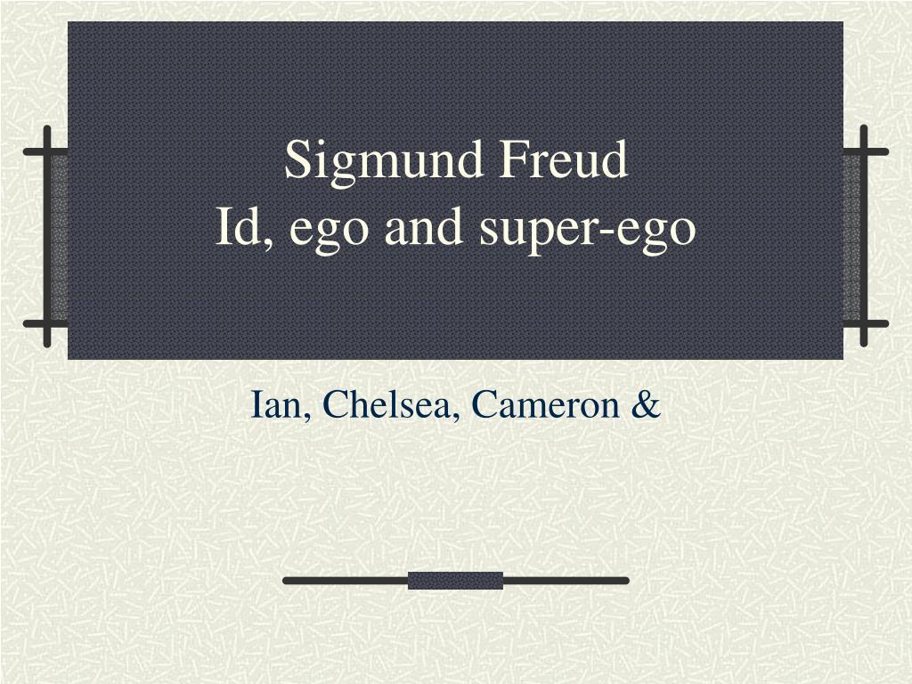 sigmund freud id ego and super ego