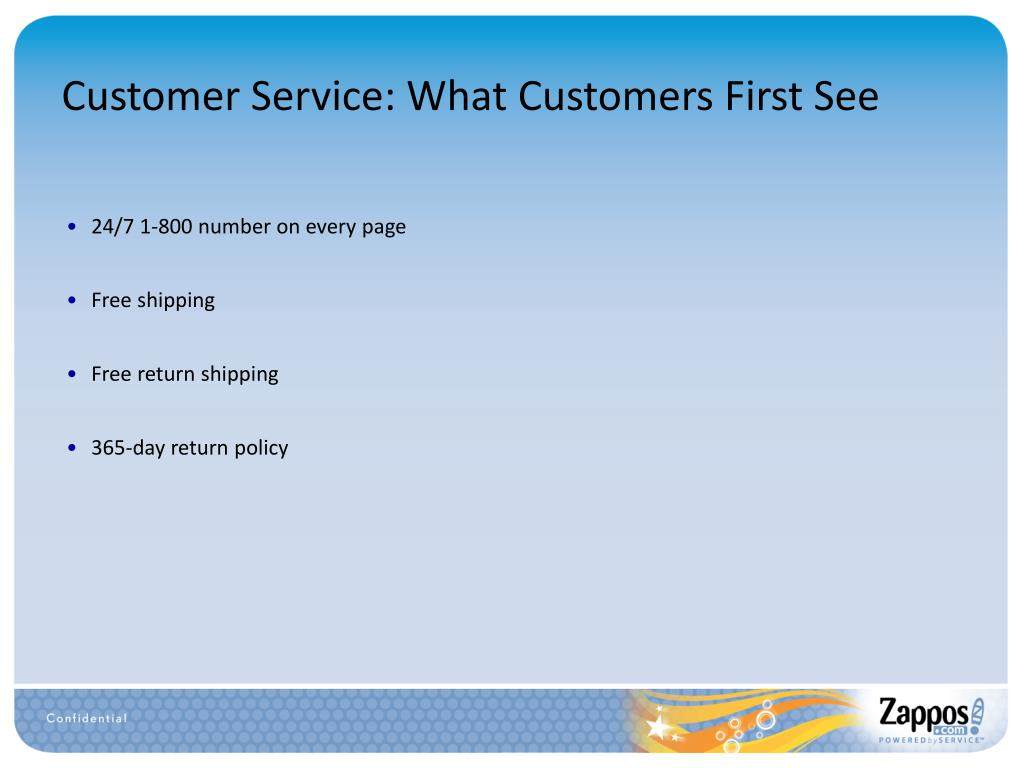 Customer Service: What Customers First See