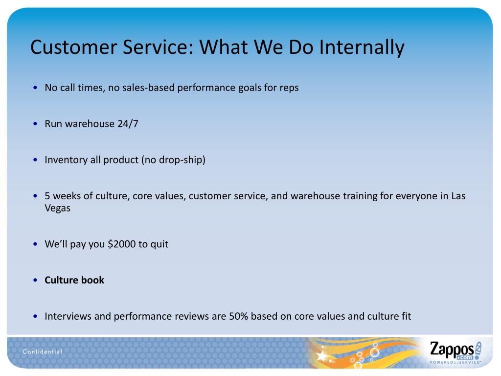 Customer Service: What We Do Internally