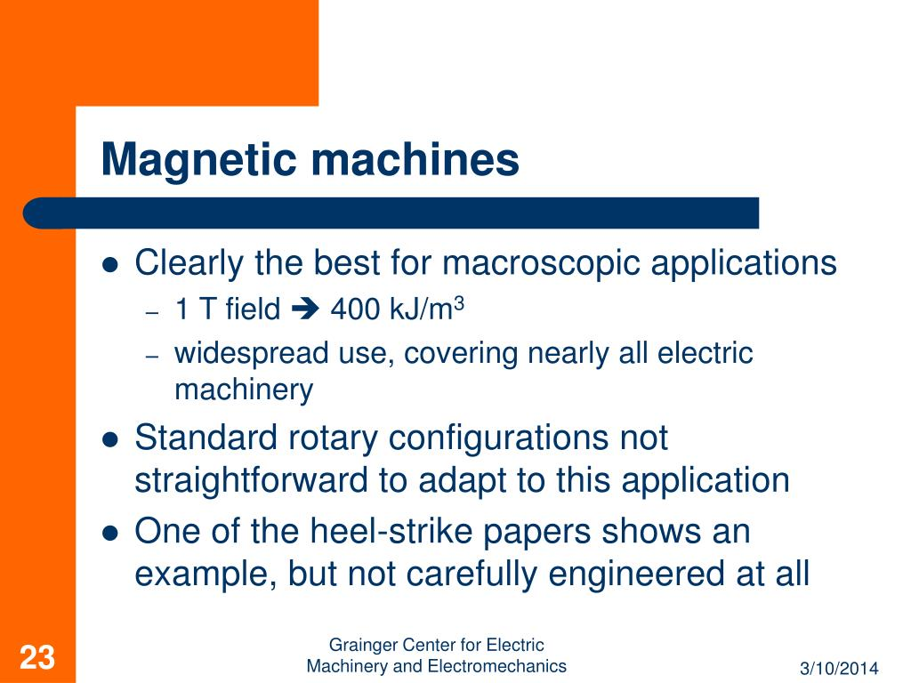 Magnetic machines