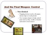 and the final weapon control