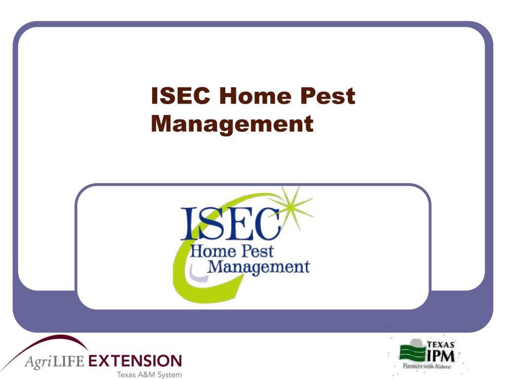 isec home pest management l.