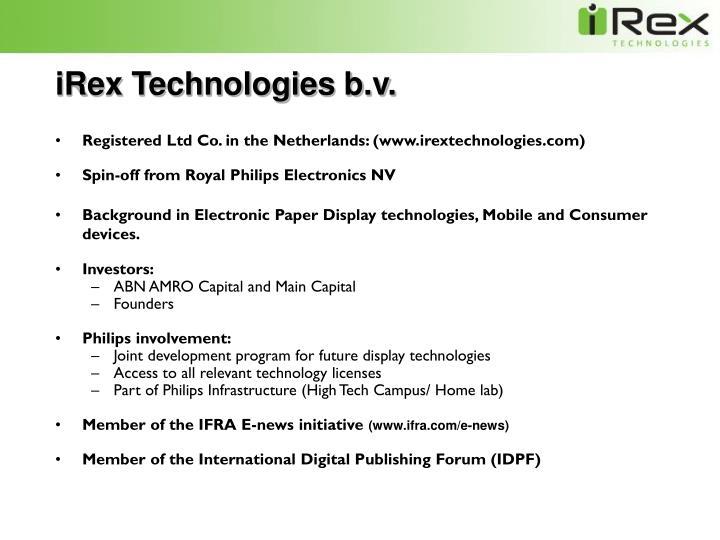 Irex technologies b v