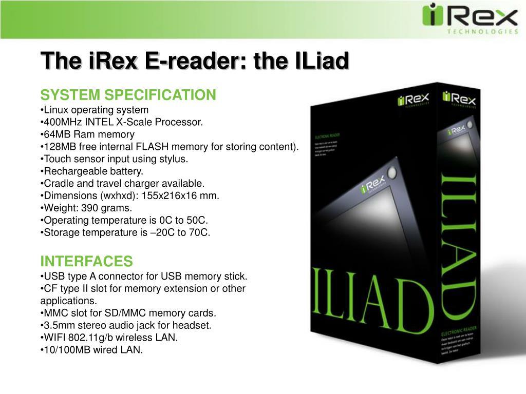 The iRex E-reader: the ILiad