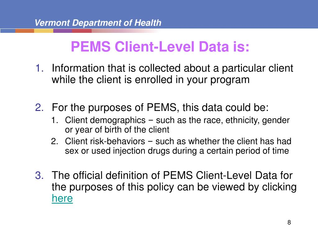 PEMS Client-Level Data