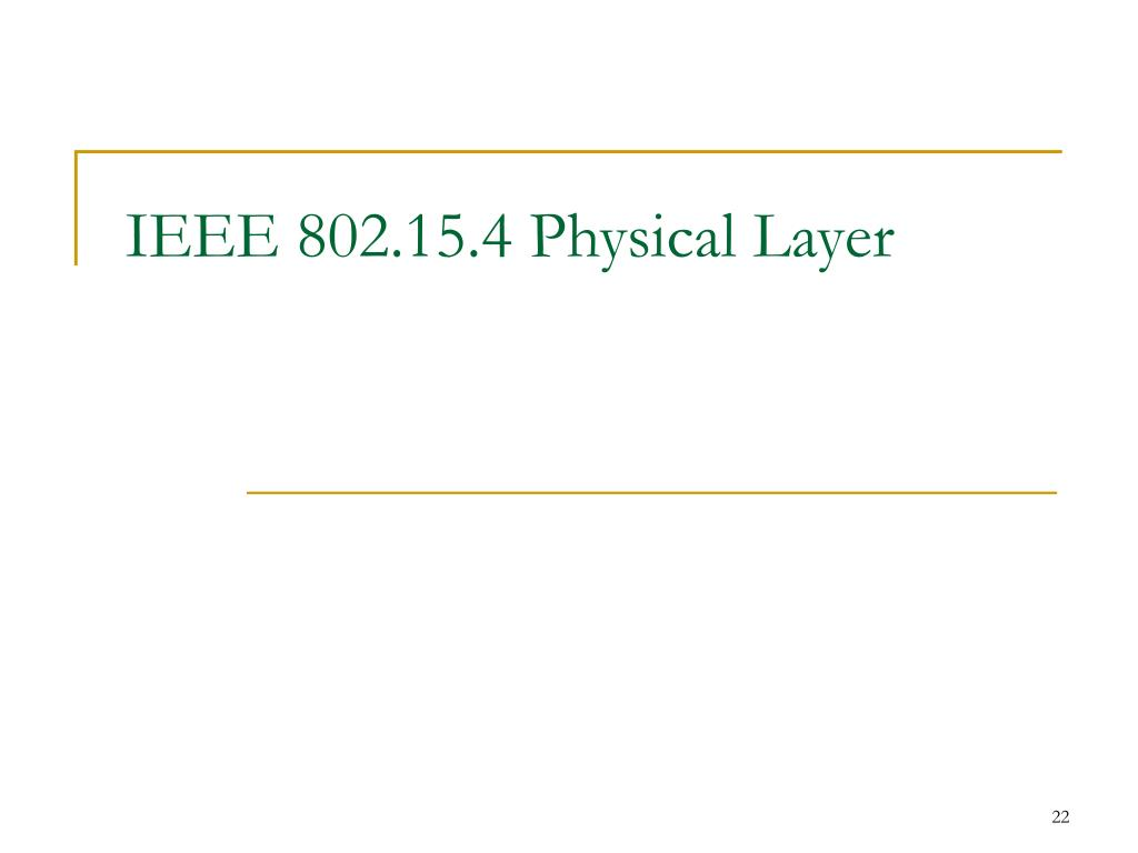 IEEE 802.15.4 Physical Layer